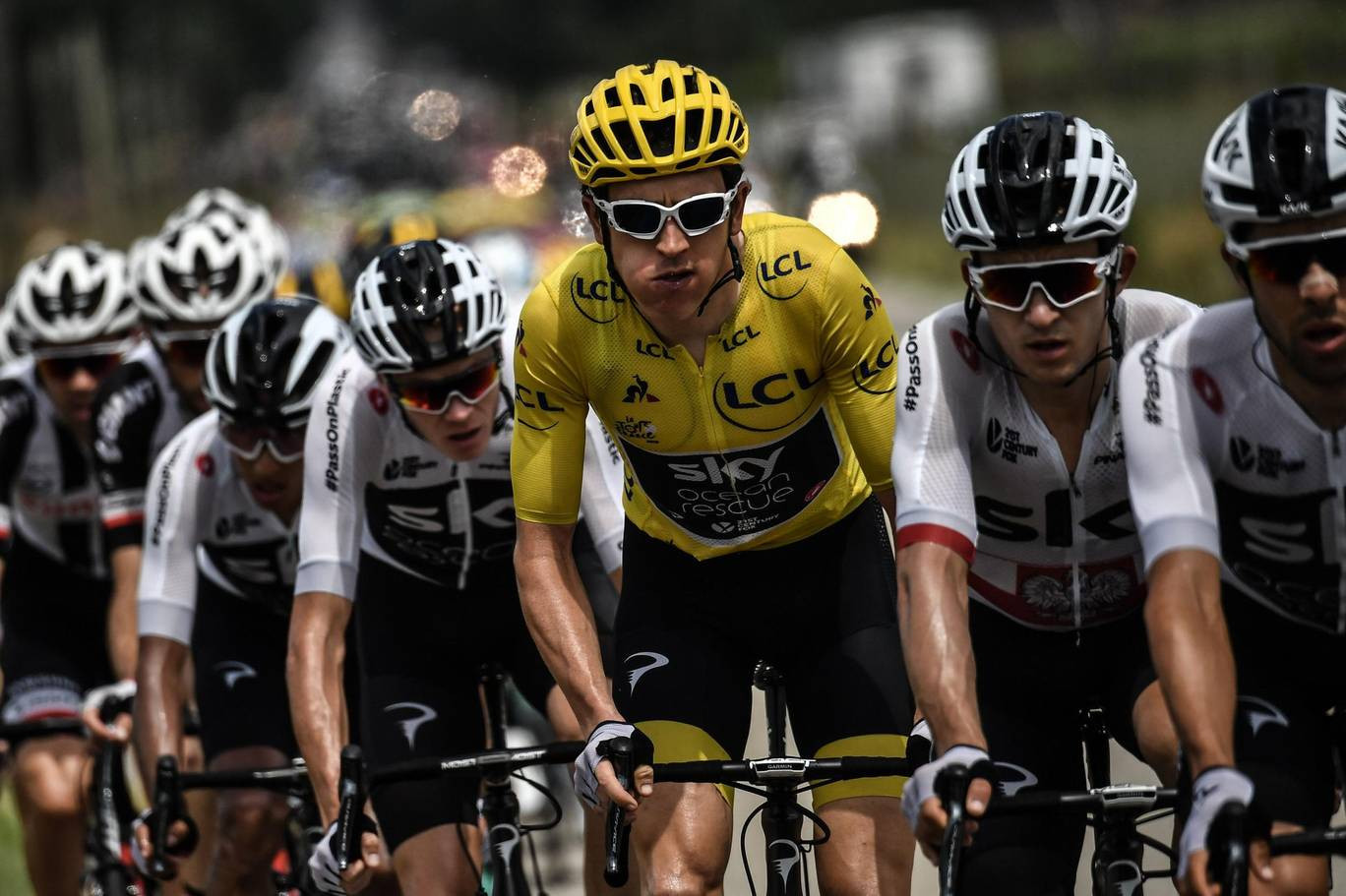 Proposals by UCI President David Lappartient to reform the WorldTour are widely believed to be aimed at ending the domination of Britain's Team Sky in the Grand Tours ©Getty Images