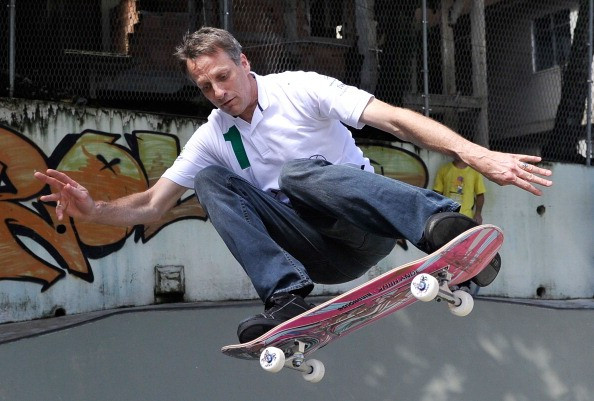 Skateboarding legend Tony Hawk is among those to back the sport bidding for a place at the Olympics ©Getty Images