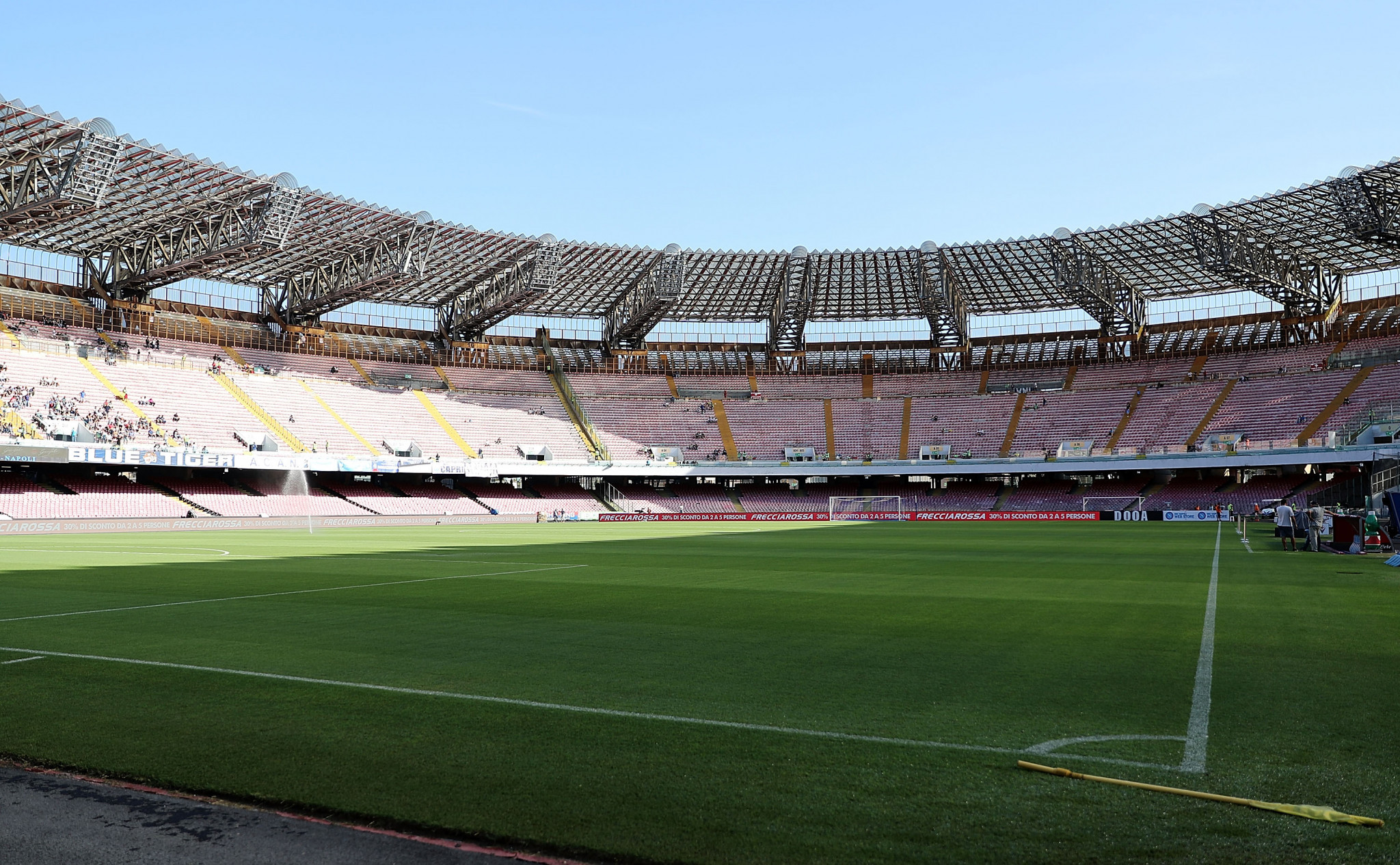 Renovation work is taking place at the San Paolo Stadium in Naples, where the Opening and Closing Ceremonies of the 2019 Summer Universiade are due to take place ©Getty Images