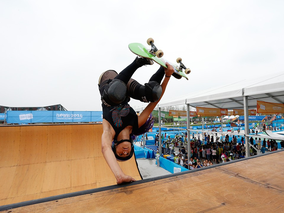 The ISF oversaw skateboarding events in the Sports Lab during the Nanjing 2014 Youth Olympic Games ©IOC