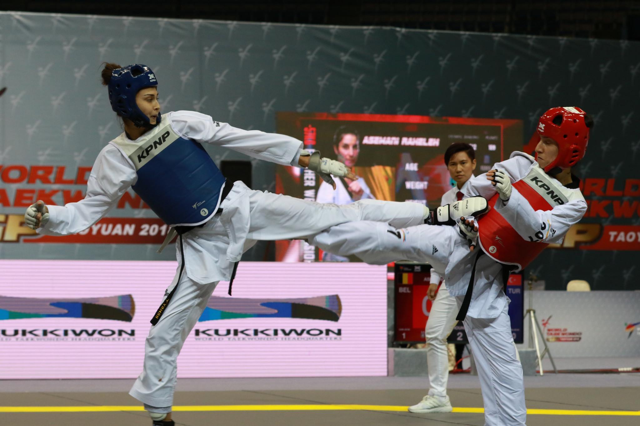 Turkey's Irem Yaman beat Belgium's Raheleh Asemani in the women's under-57 kilograms final at the World Taekwondo Grand Prix in Taoyuan ©World Taekwondo
