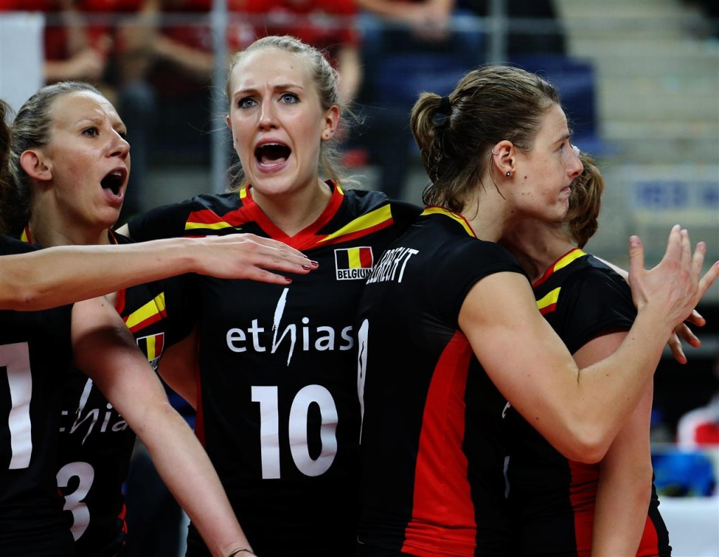 Belgium face play-off at Women's European Volleyball Championship but Dutch co-hosts make last eight