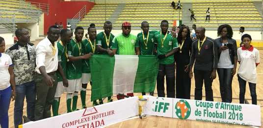 Nigeria won the men's competition at the first-ever Africa Floorball Cup in Abidjan in Ivory Coast ©IFF