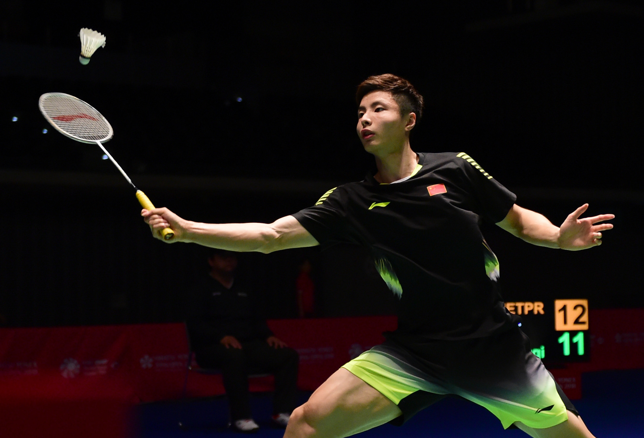 Shi Yuqi delighted the home crowd by securing his place in the semi-finals of the BWF China Open in Changzhou today ©Getty Images