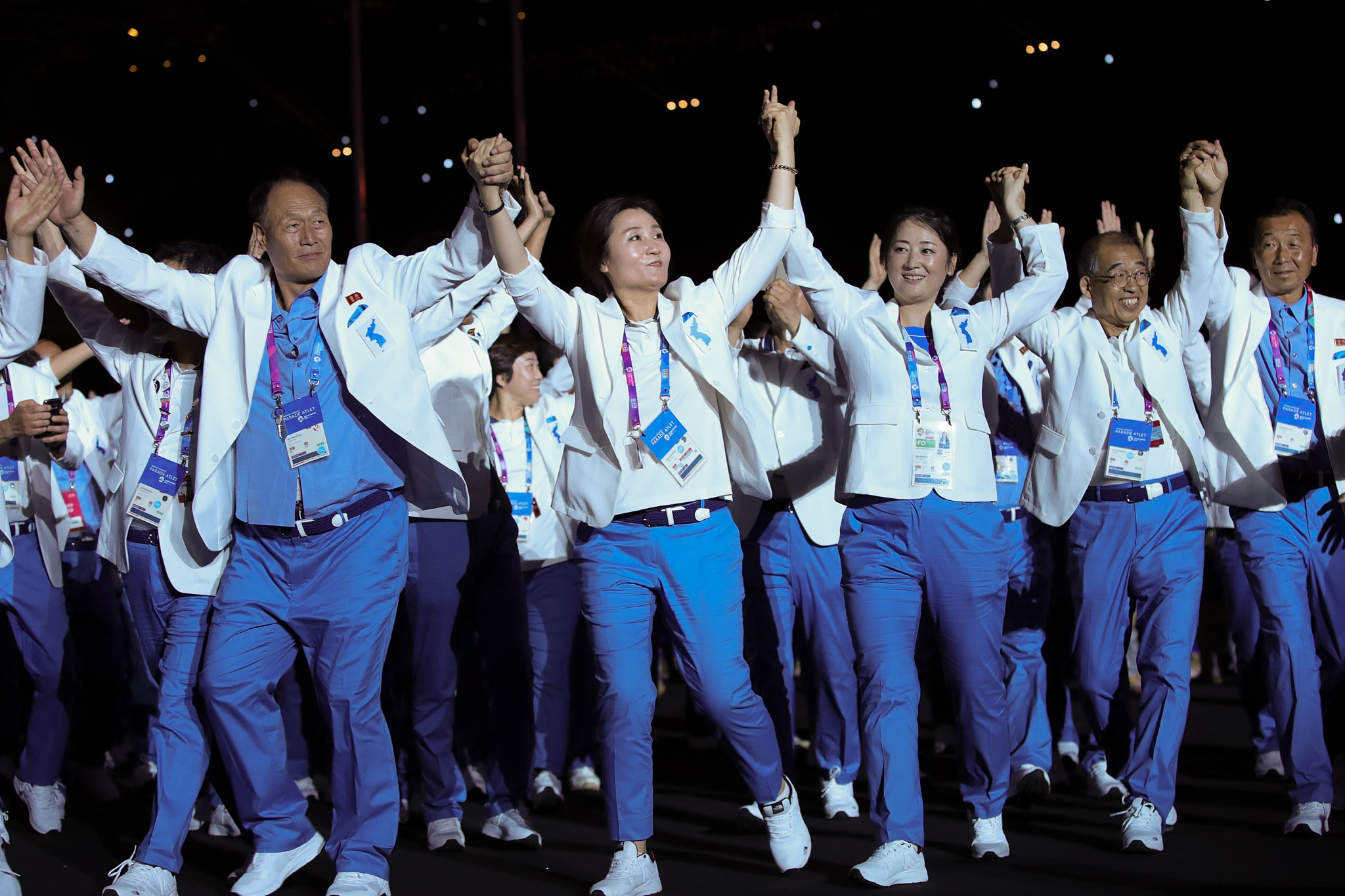 North and South Korea marched together at the 2018 Asian Games but the Asian Para Games will be the first Paralympic-style event at which they will do so ©Getty Images
