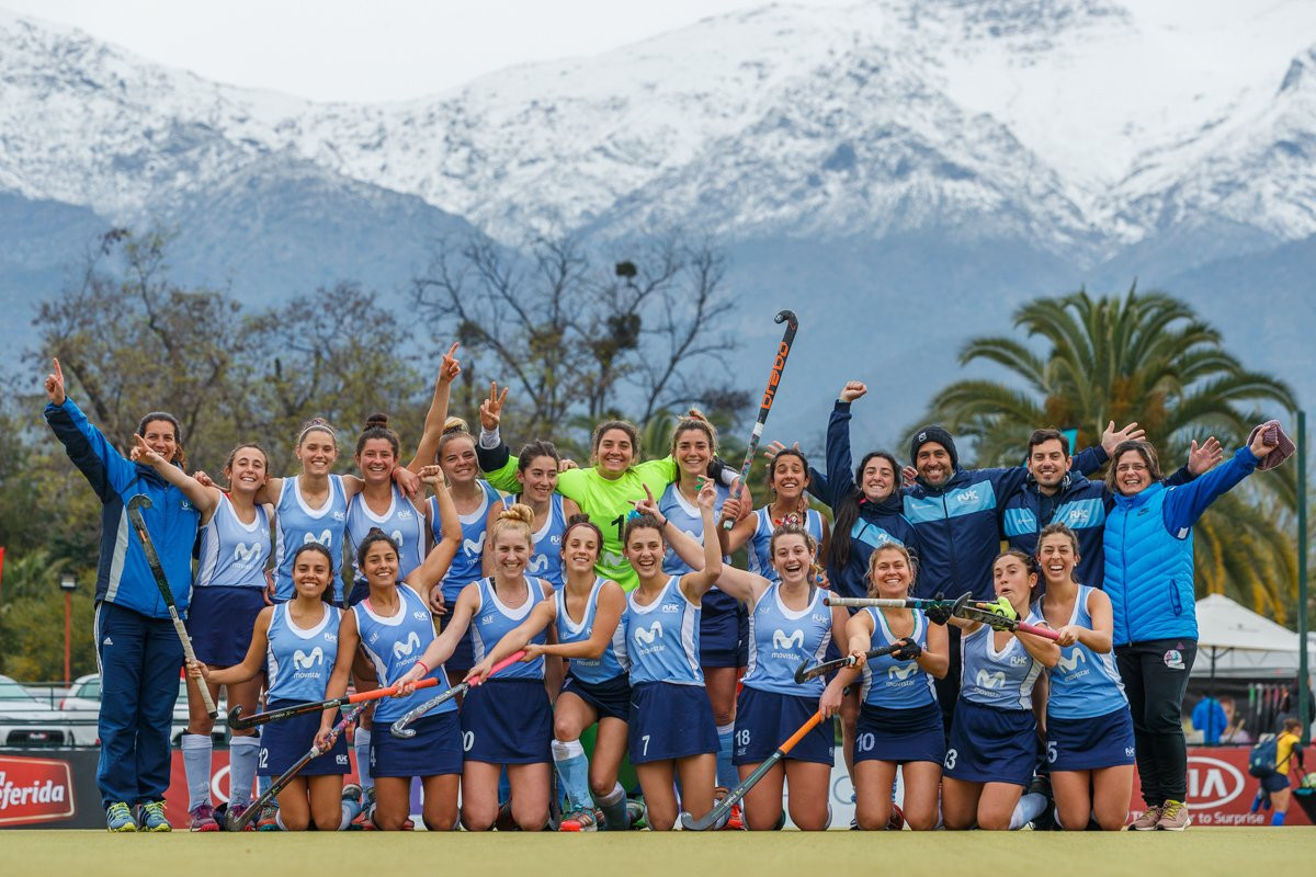 Uruguay's women's team won 2-0 against Peru at the FIH Hockey Open Series in Santiago, Chile @FIH