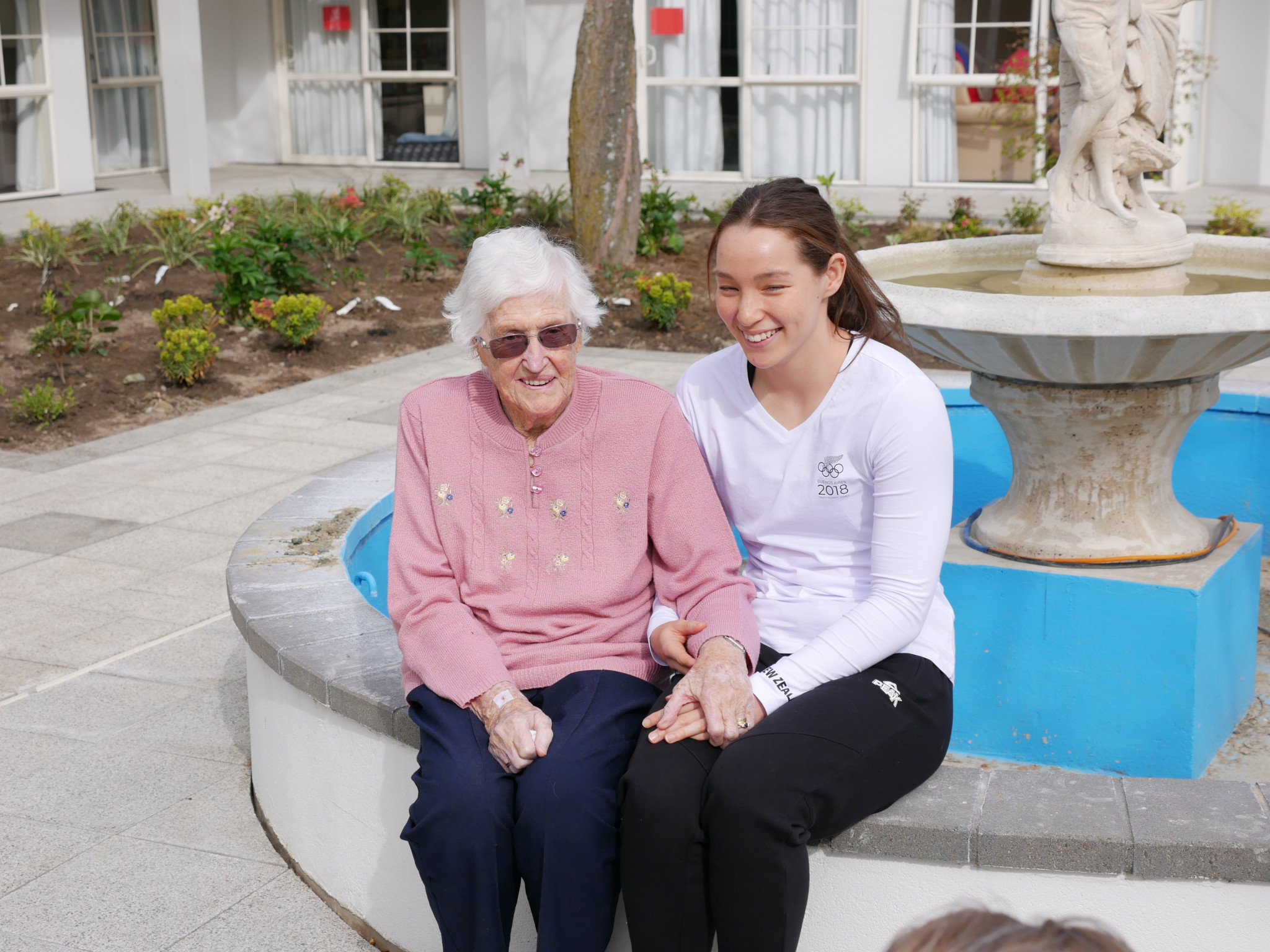 Gina Galloway, right, will compete in four swimming events at the Youth Olympics next month, 70 years after her grandmother Ngaire took part in the 1948 Olympics ©theNZteam.com