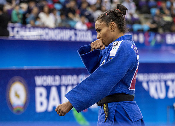 Brazil's Erika Miranda took the other bronze medal quickly dispatching her compatriot Jessica Pereira in the repechage ©IJF