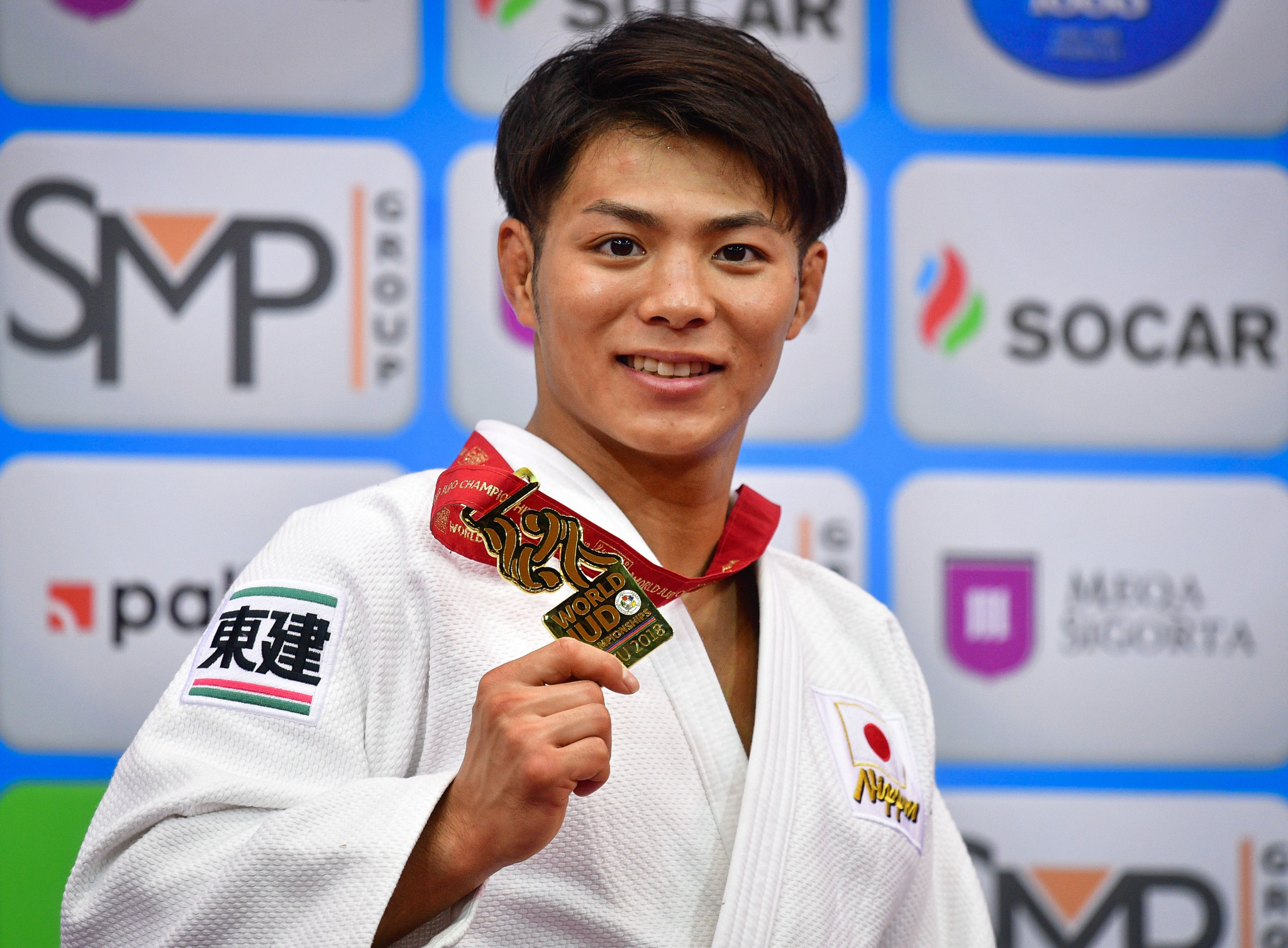 In the men's under-66kg category, Hifumi Abe successfully defended his title ©Getty Images