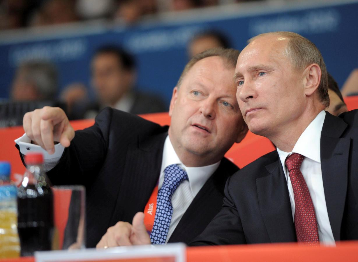 Vladimir Putin, honorary President of the International Judo Federation, has regularly attended the event as a guest of its head and his close friend Marius Vizer ©Getty Images