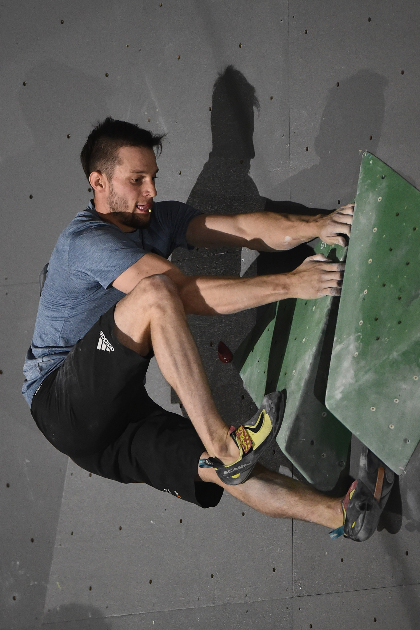 Slovenia's 2018 IFSC Bouldering World Cup's overall champion added the 2018 adidas Rockstars title to his CV tonight ©Getty Images