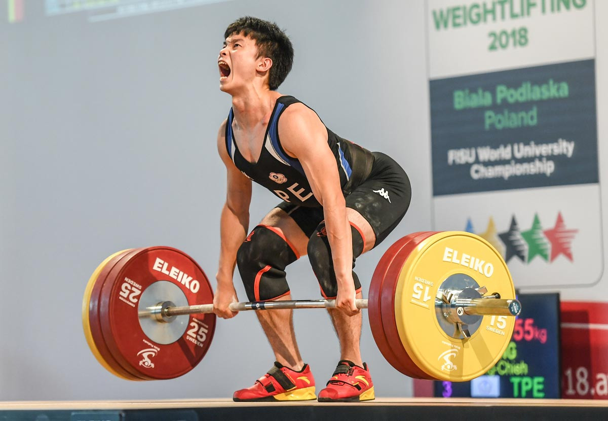 Chinese Taipei claim two gold medals at FISU World University Weightlifting Championships