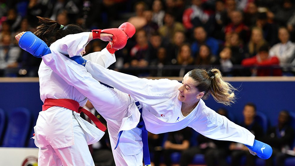 Action continued today at the Karate 1-Series A event in Chile's capital Santiago ©WKF