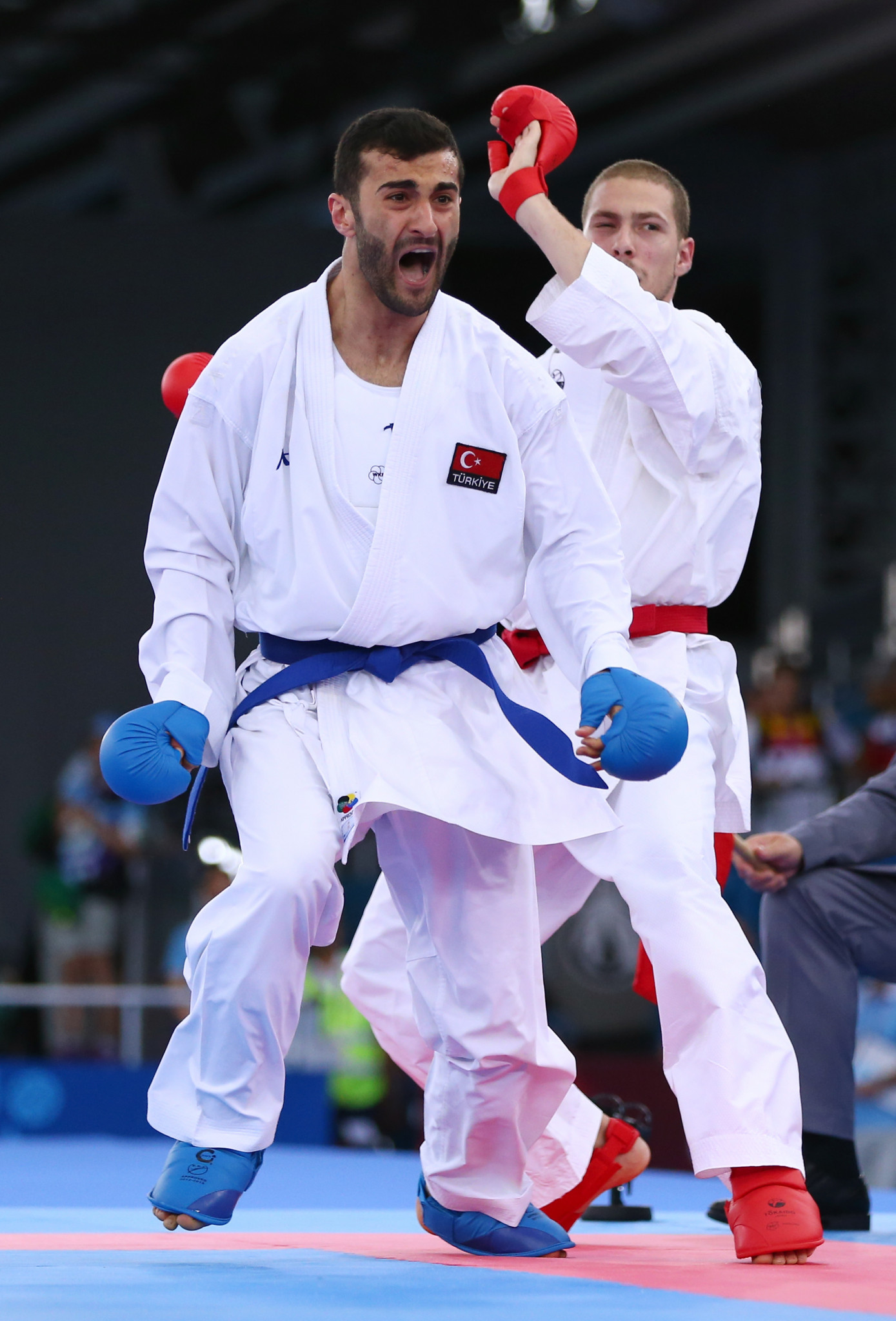 Uğur Aktaş was one of three Turkish karatekas to reach a final today ©Getty Images