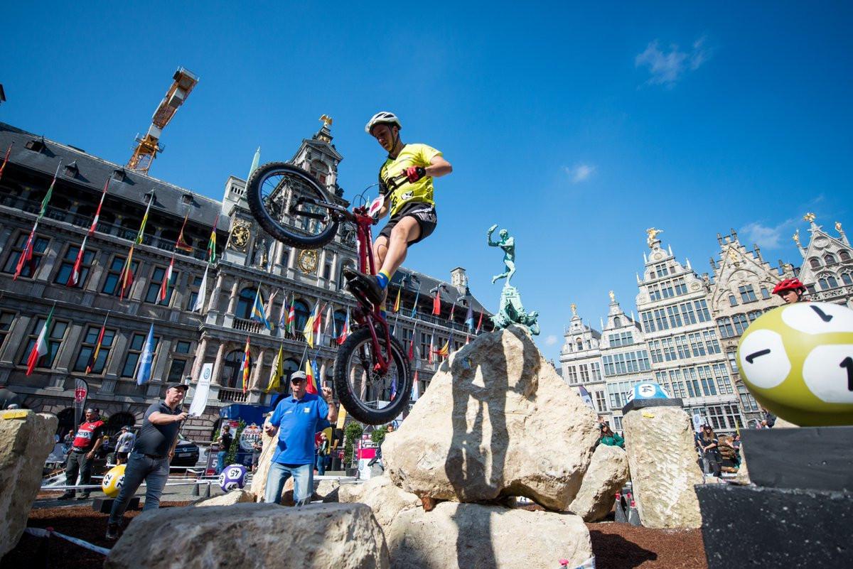 Reichenbach earns third straight UCI Trials World Cup success in Antwerp