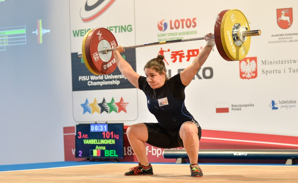Belgium's Anna Vanbellinghen came out on top in the women's 90kg event ©FISU