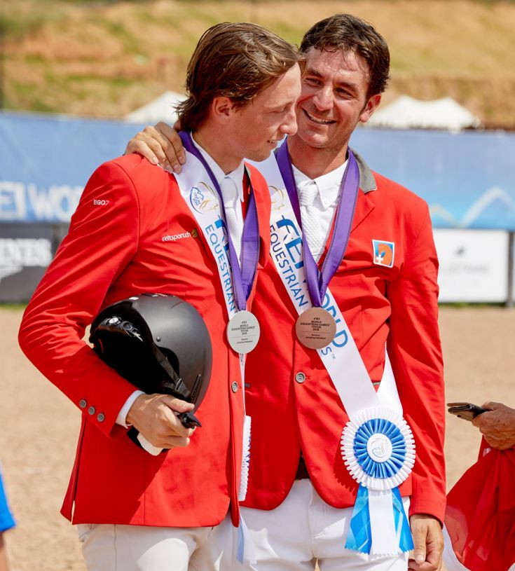 Martin Fuchs, and Steve Guerdat, who won silver and bronze respectively in Tryon, were the first Swiss riders to earn individual medals in this event at the World Equestrian Games since 1990 ©FEI