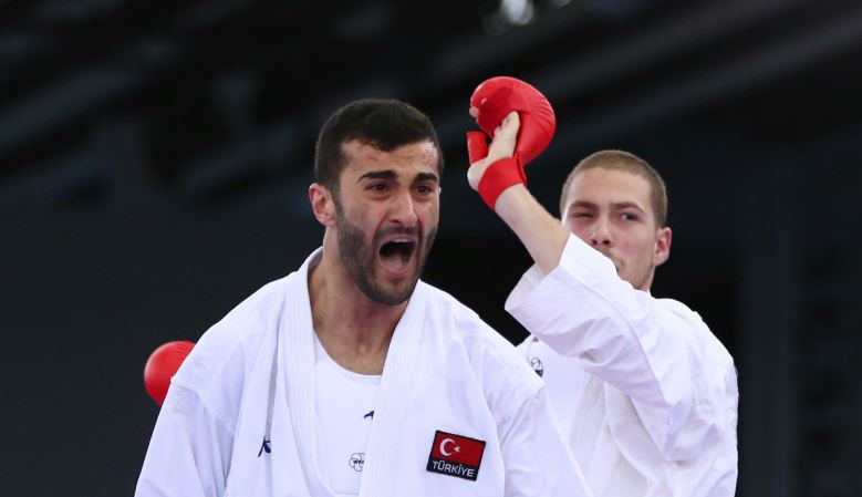 Ugur Aktas earned one of five golds for Turkey at the WKF Karate 1-Series A event in Santiago ©WKF
