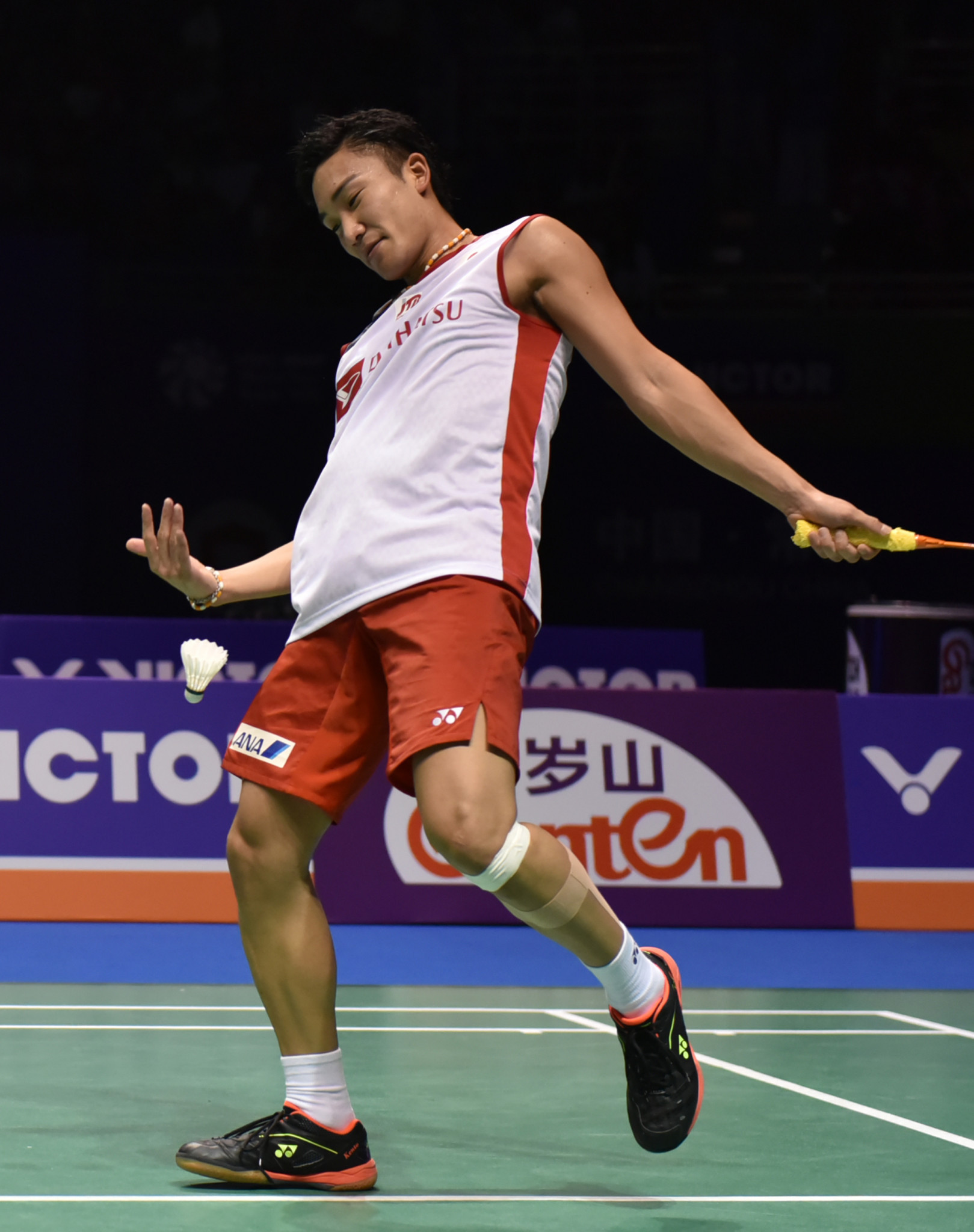 Kento Momota will be out for revenge following his shock defeat to the Indonesian player in the final of the China Open ©Getty Images