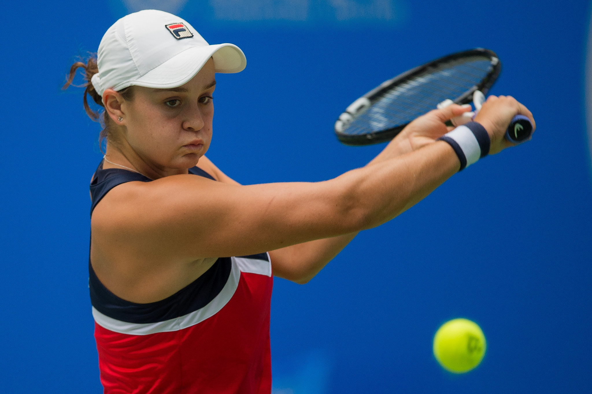 Ashleigh Barty of Australia beat Briton's Johanna Konta in the first round of the Wuhan Open, China ©Getty Images