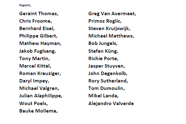 A total of 27 leading riders have signed the letter to the CPA ©ITG