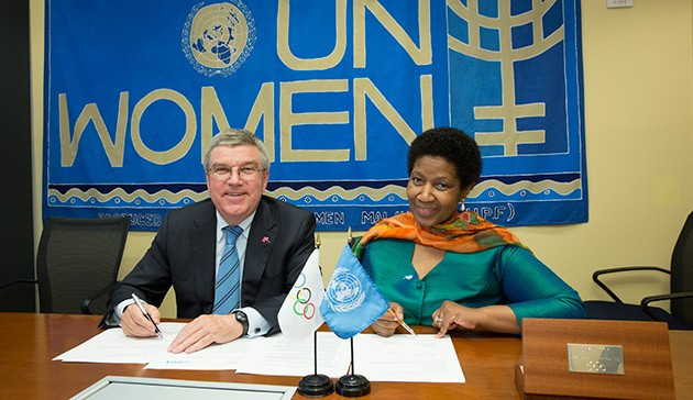 IOC to give $600,000 to United Nations project aimed at boosting gender equality