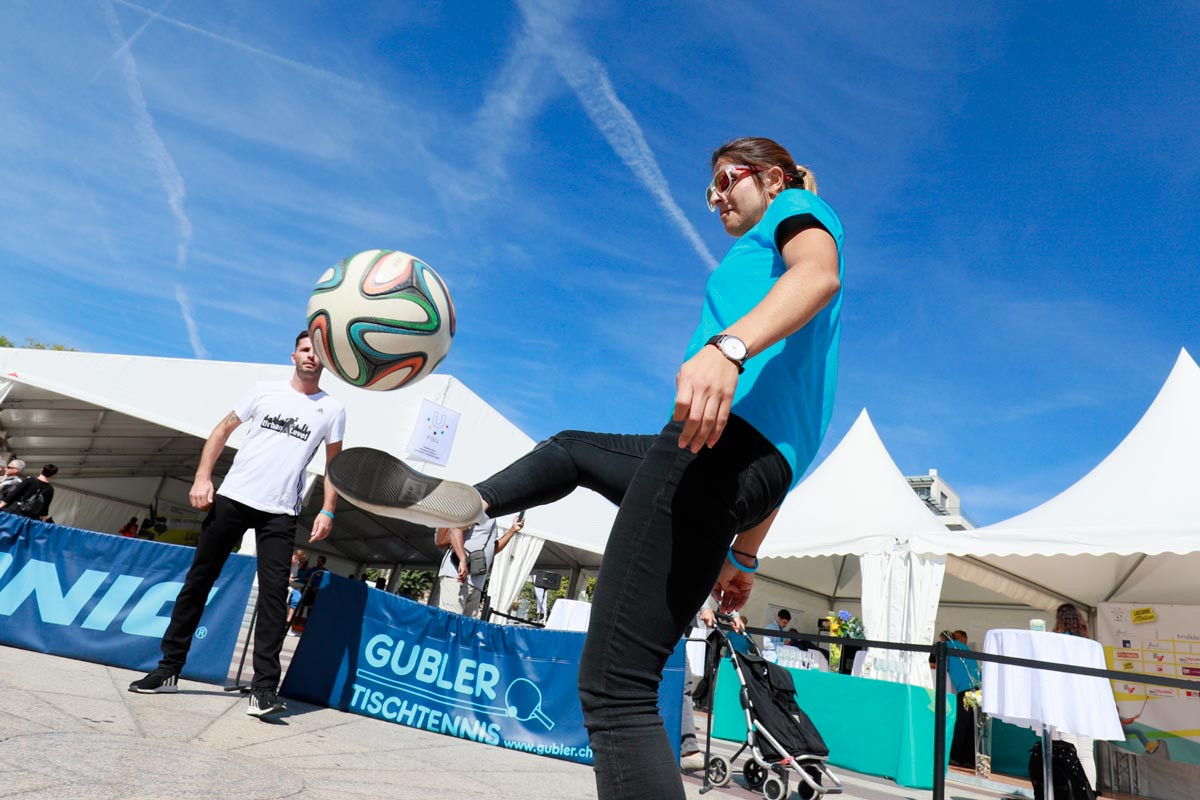 Participants visited the Lausanne in Motion festival during the meeting ©FISU