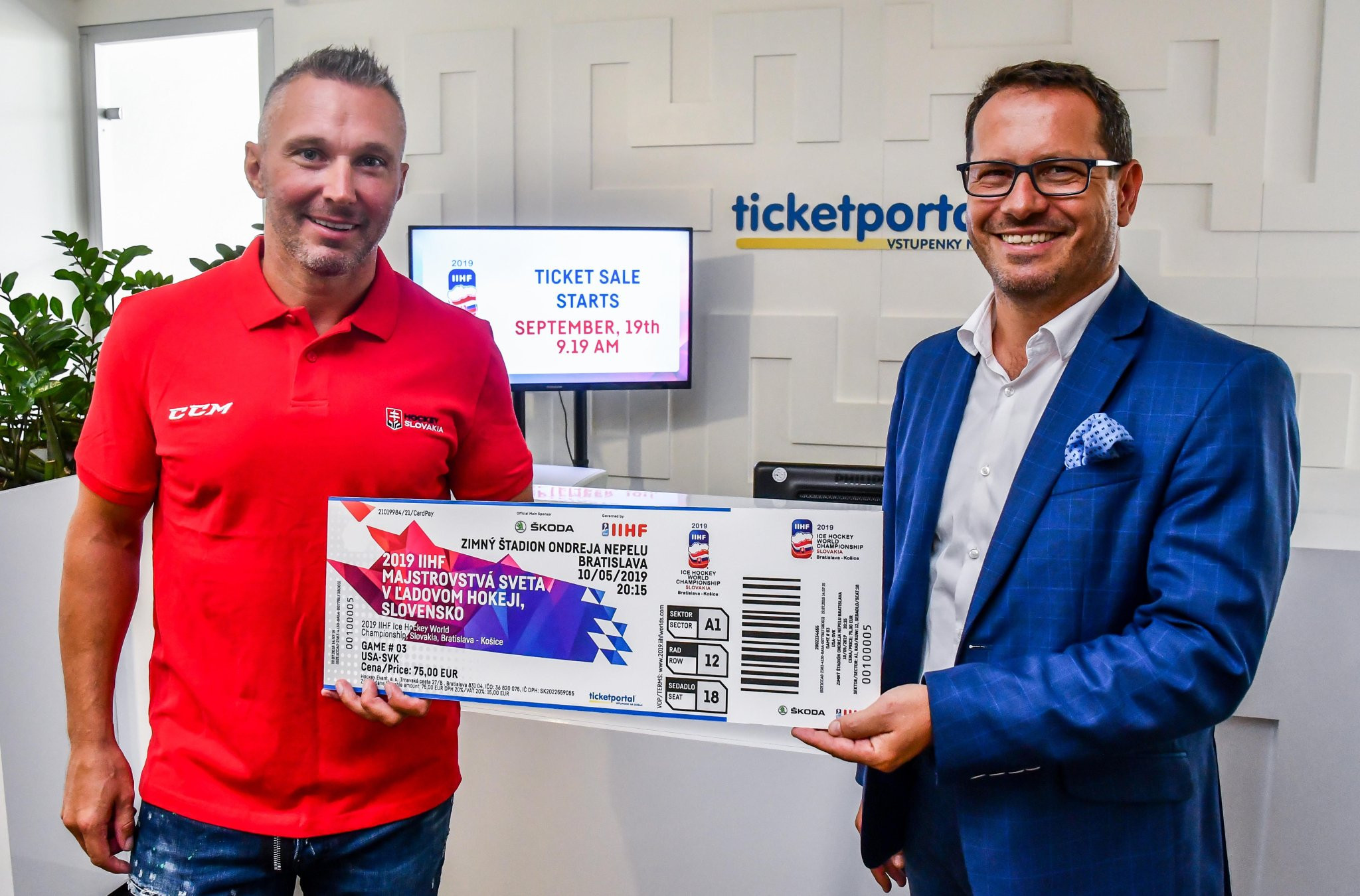 Tickets will be sold in three phases prior to next year's tournament in Slovakia ©IIHF
