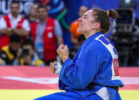 The Netherlands ended up with silver and bronze in the women's under-78kg category as Marhinde Verkerk took third place ©IJF
