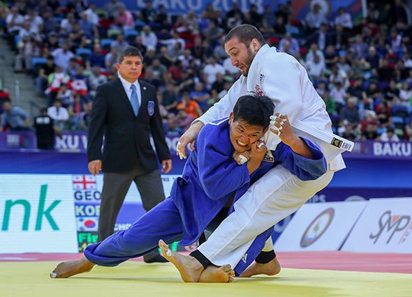 Guham had to battle the world number one Georgia's Varlam Liparteliani to claim gold in five minutes of extra time ©IJF
