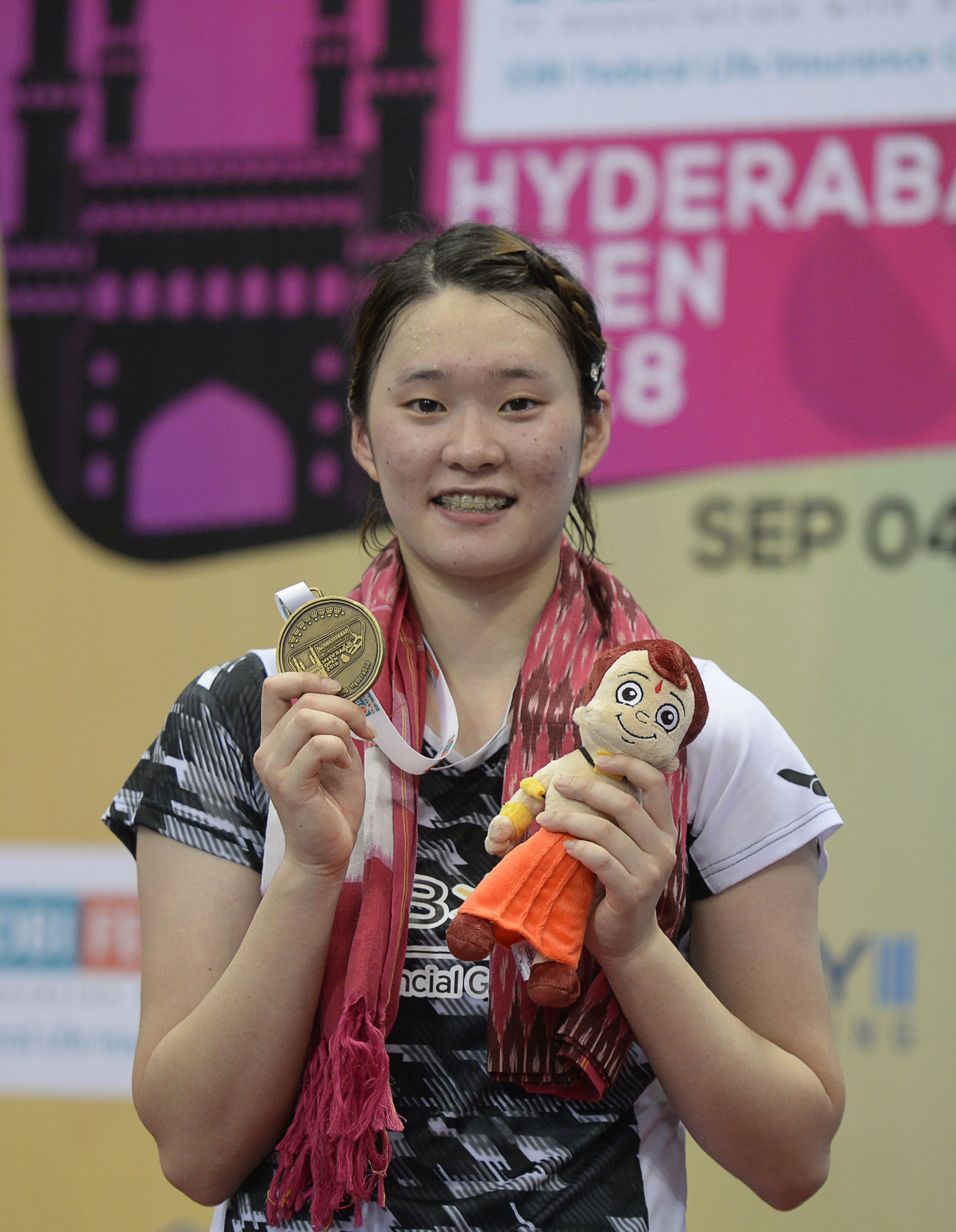 Hyderabad Open winner Ga Eun Kim came through qualifying today to reach the main women's draw at the BWF Korea Open ©Getty Images