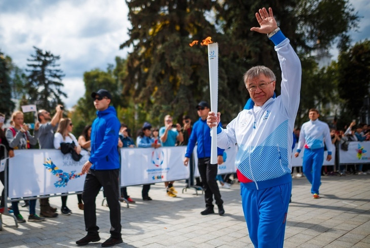 Krasnoyarsk 2019 Torch Relay welcomed in former host city Almaty