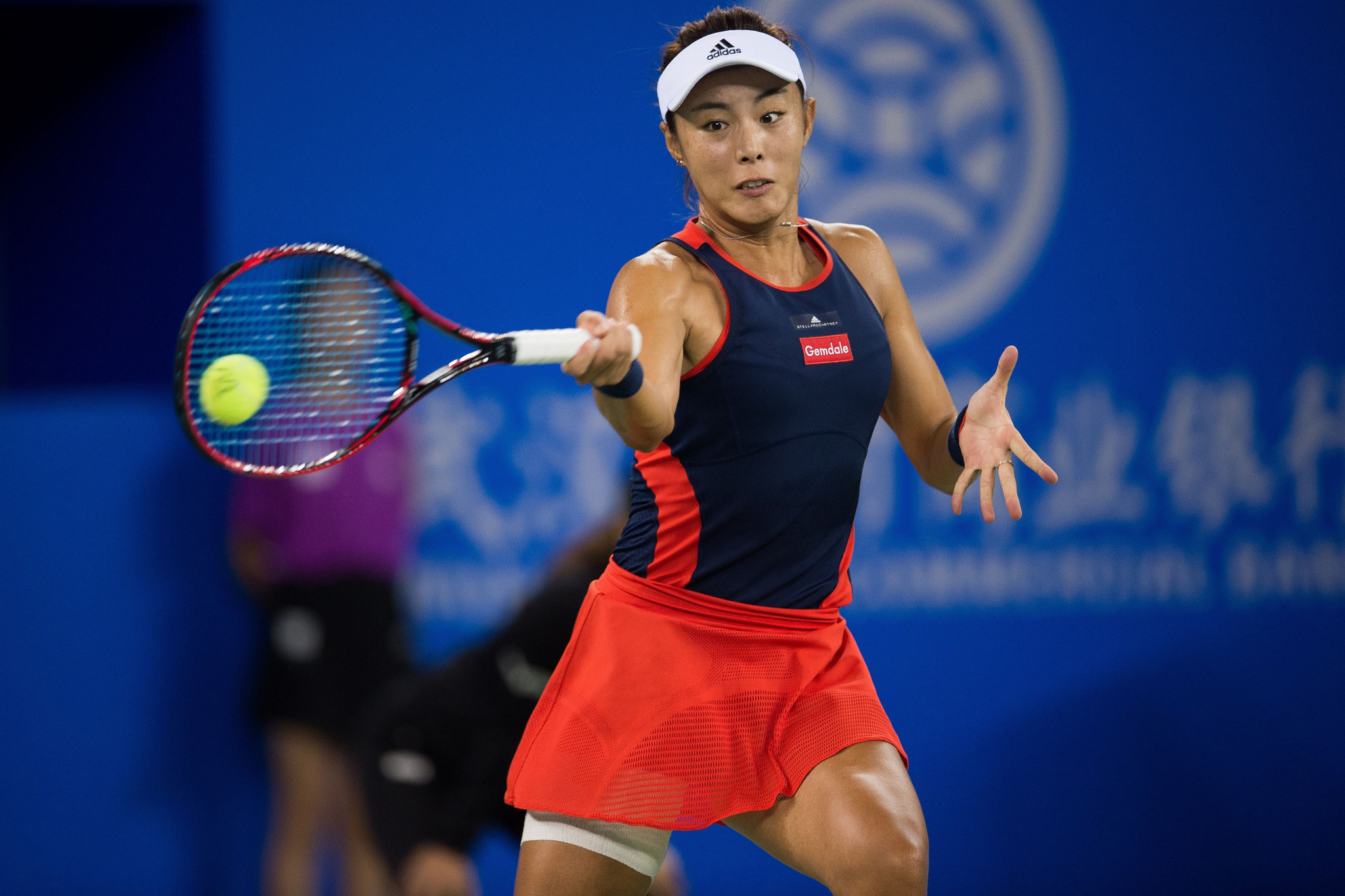 Wang Qiang of China beat Australian Daria Gavrilova to become the first Chinese woman to reach the quarter-finals of the Wuhan Open ©Getty Images