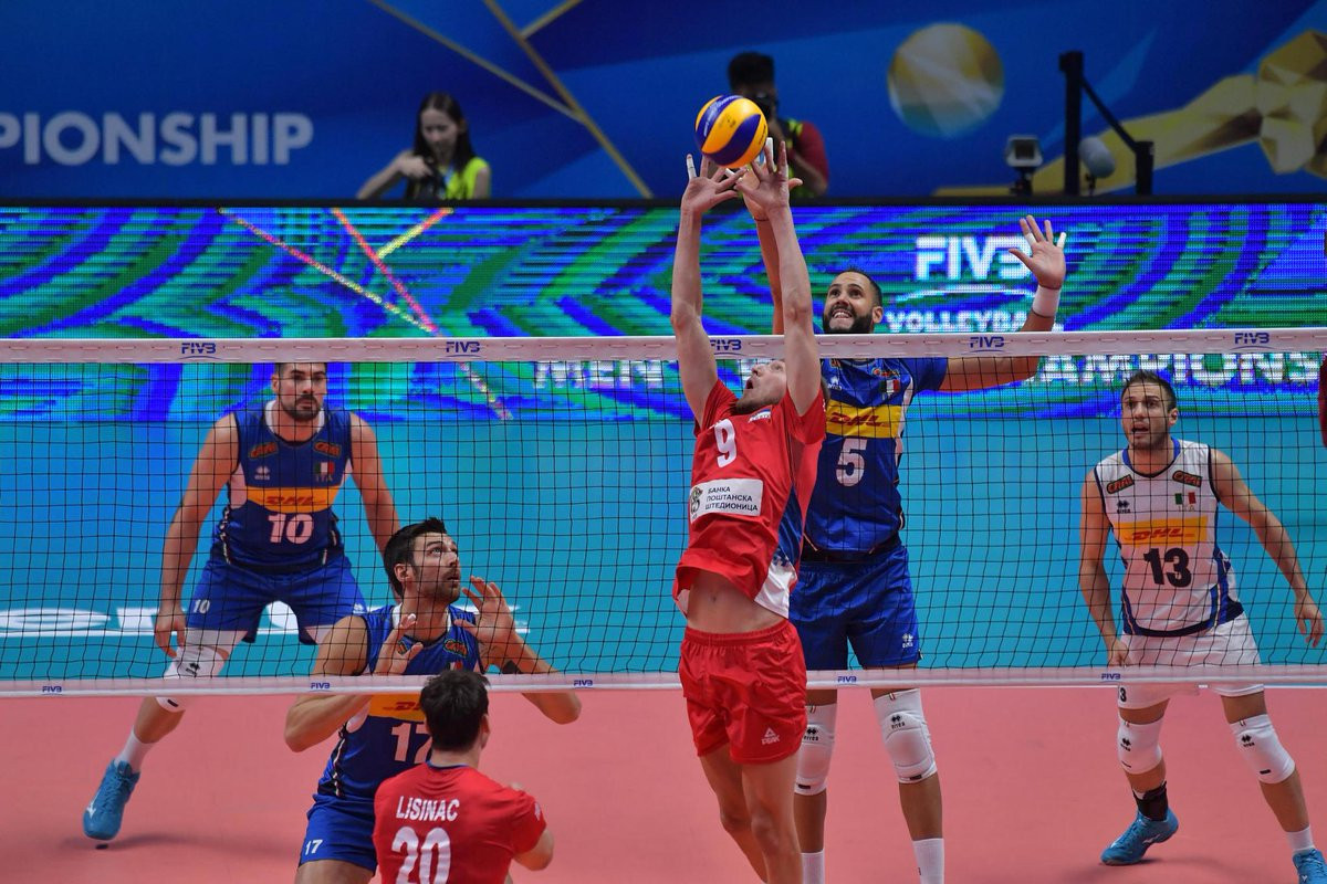 Brazil and Serbia win at FIVB Volleyball Men's World Championship