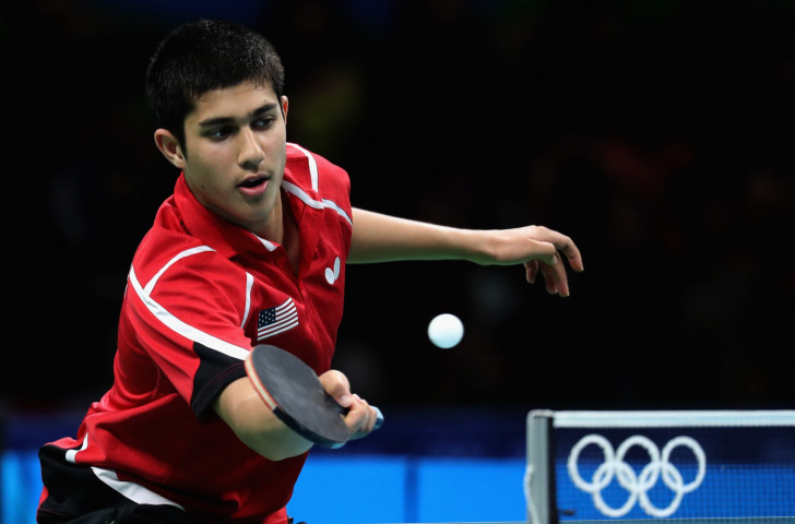 Table tennis player Kanak Jha, pictured representing the United States at the Rio 2016 Games, is among 87 athletes named for next month's Youth Olympic Games in Buenos Aires ©Getty Images