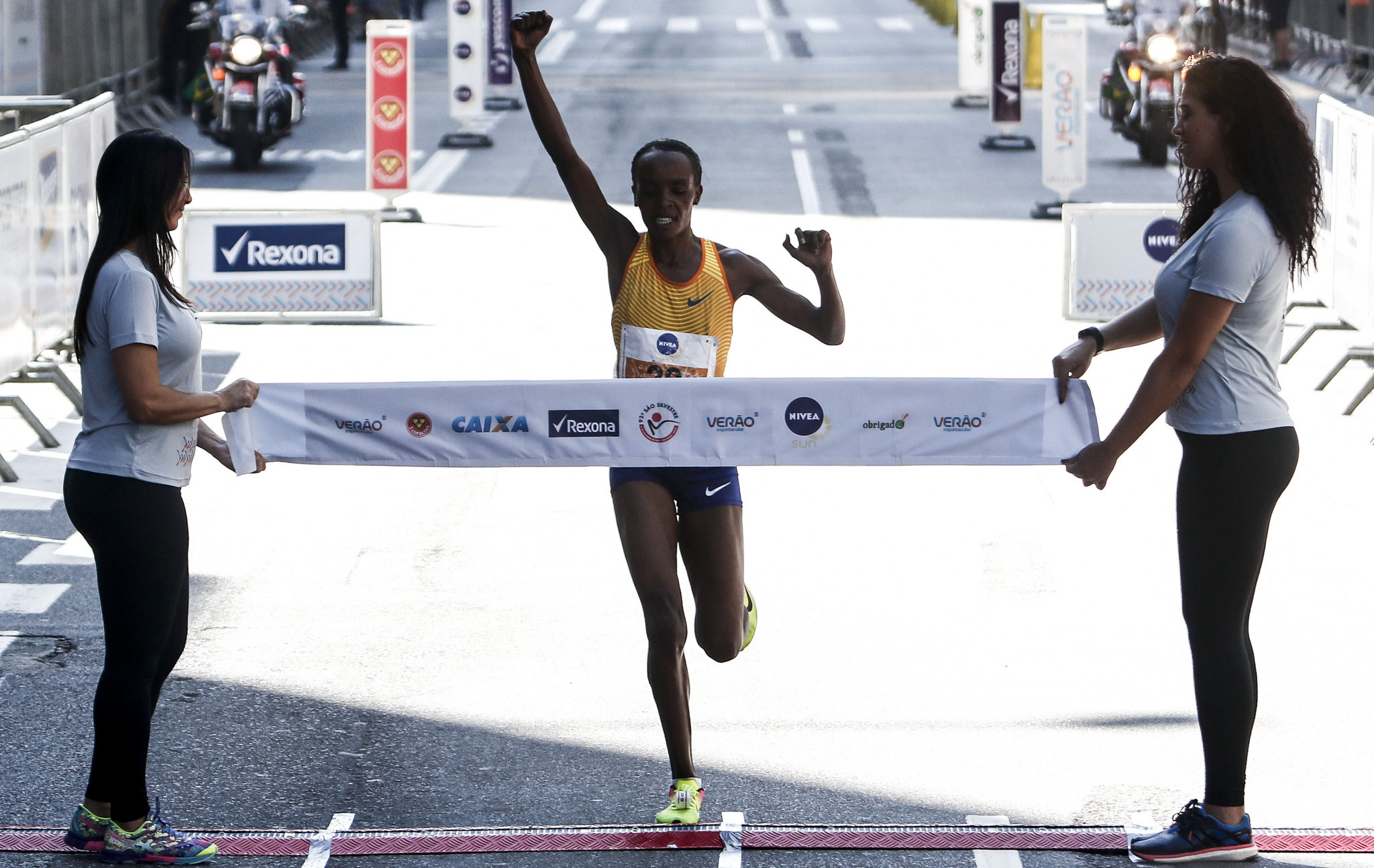Olympic marathon champion Jemima Sumgong is among the Kenyan athletes to have tested positive ©Getty Images