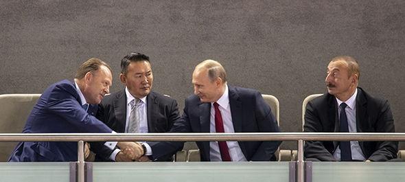 Putin joins Azeri and Mongolian Presidents at World Judo Championships