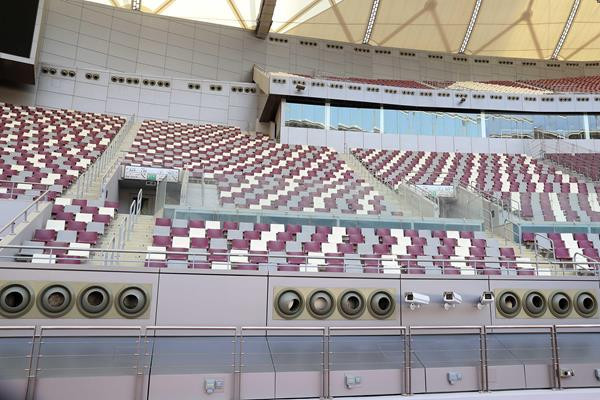 IAAF delegation blown away by Khalifa Stadium cooling system as Doha marks one-year countdown to World Championships