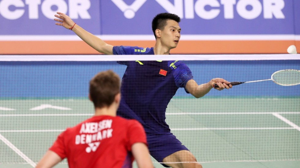 Top seed Axelsen felled by China's Zhao at BWF Korea Open