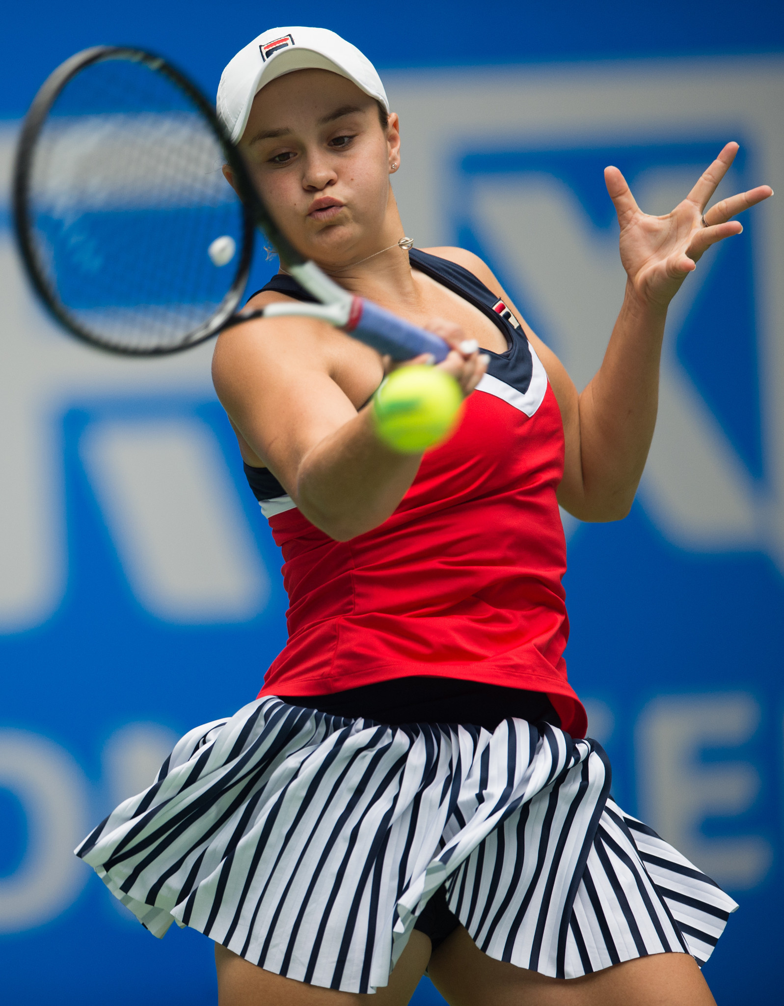 Australia's Ashleigh Barty, the only remaining seed in the WTA Wuhan Open, en-route to the semi-finals today ©Getty Images