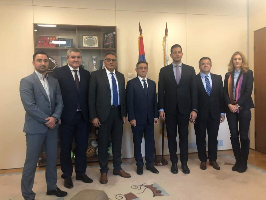 World Taekwondo Europe President Pragalos meets Serbian Minister for Sport in Belgrade
