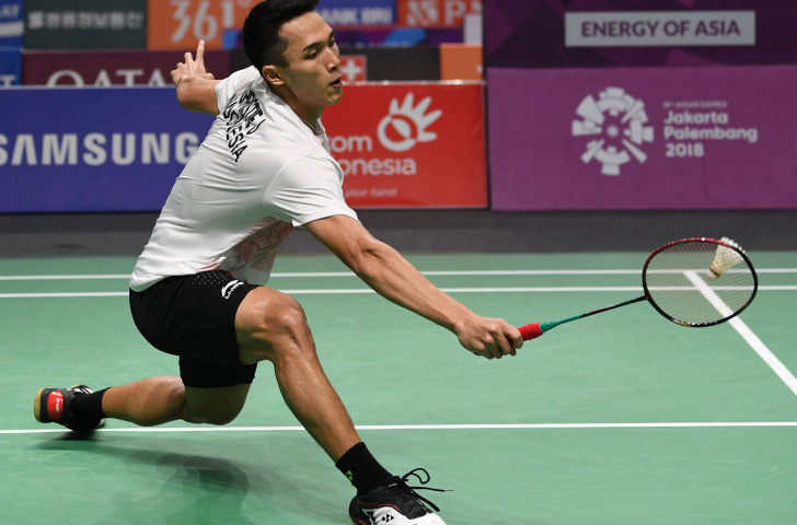 Indonesia's Asian Games champion Jonatan Christie reached the men's singles semi-finals at the BWF Korea Open today ©Getty Images