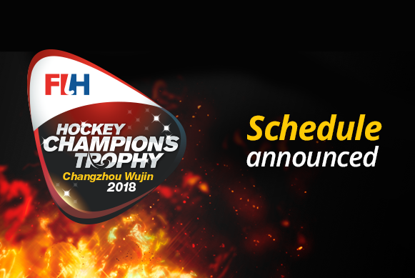 Schedule announced for 2018 FIH Women's Champions Trophy