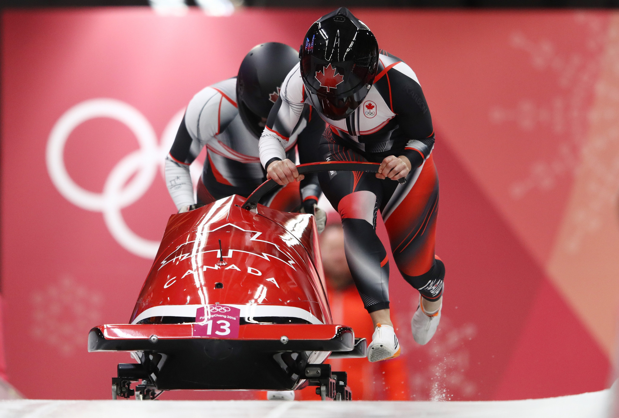 Melissa Lotholz was a brakewoman as part of a partnership with Christine de Bruin at Pyeongchang 2018 ©Getty Images