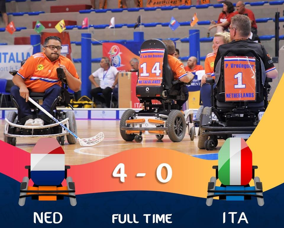 Italy finished third in their group after a loss to The Netherlands ©IWAS