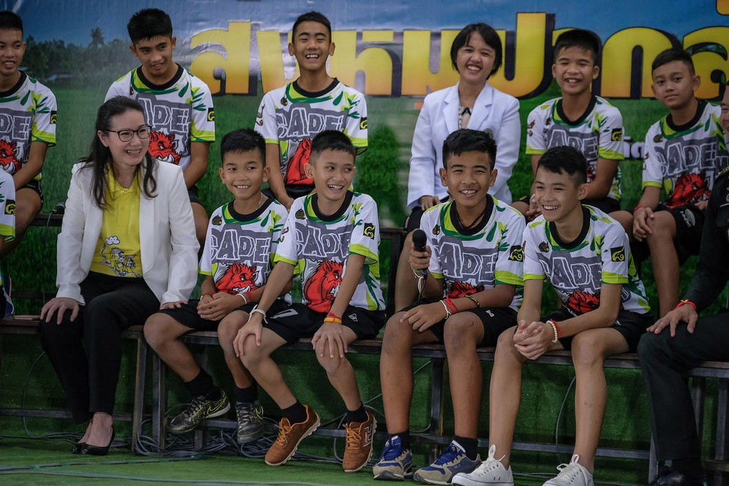 Thailand's Wild Boars football team, who survived being trapped in a flooded cave for two weeks in June, have been invited to the Youth Olympic Games in Buenos Aires ©Getty Images