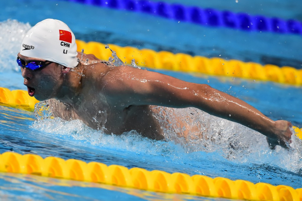 China's Li sets new world junior record at FINA World Cup in Beijing