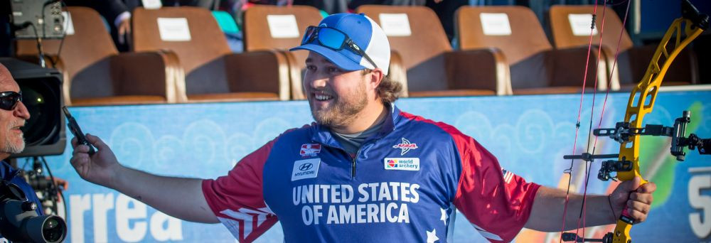 Schaff wins first big individual gold in men's compound at Archery World Cup Final as Lopez makes history