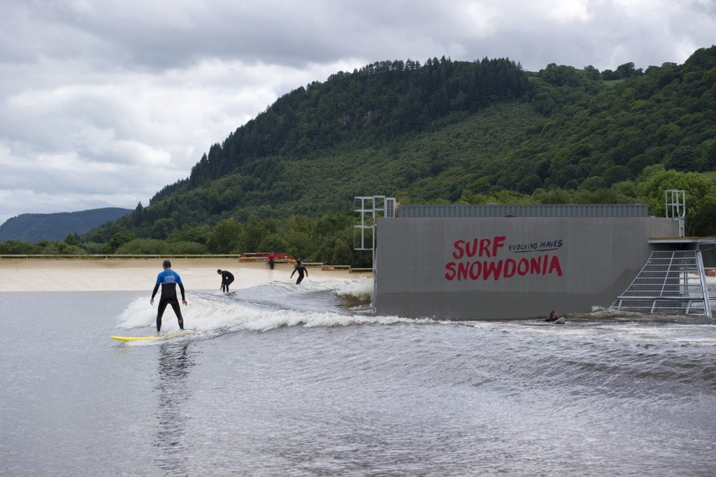 An inland surf lagoon similar to the one in Snowdonia could be utilised in the Japanese capital ©AFP/Getty Images