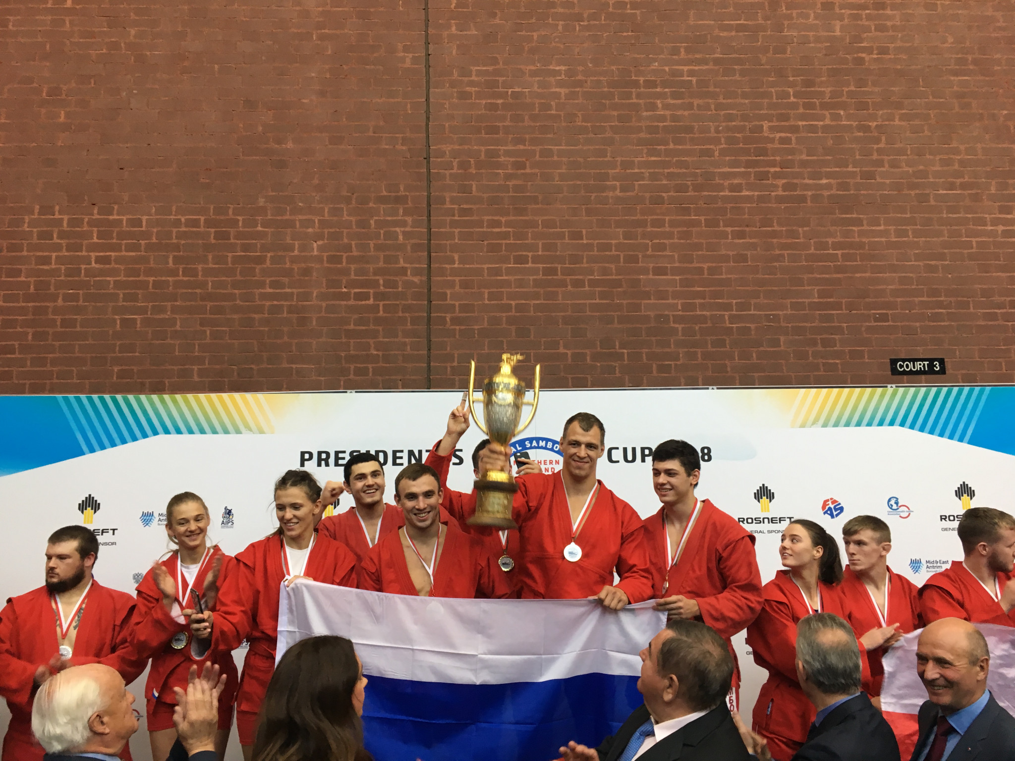 Russia won the overall President's Cup title today by beating the United States and Canada in the final ©ITG